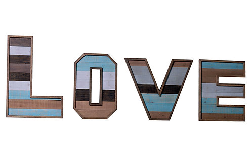 Blue & White Wooden Love Sign
