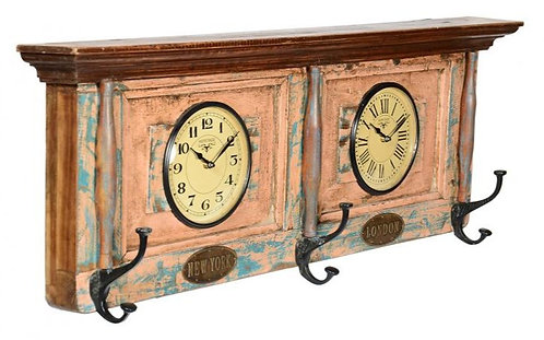Recycled Window Clock with Dual Dial