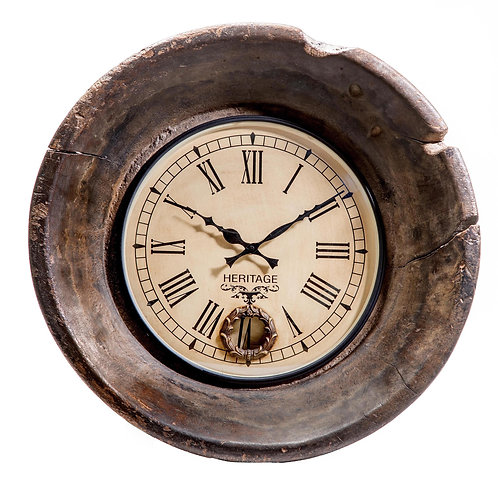 Upcycled Wooden Antique Tagari Clock