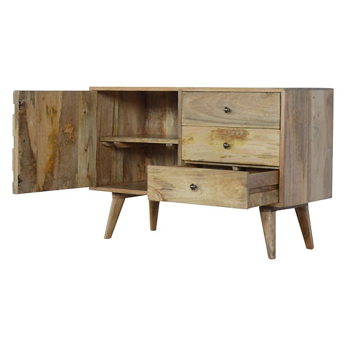Scandinavian Style Carved Sideboard