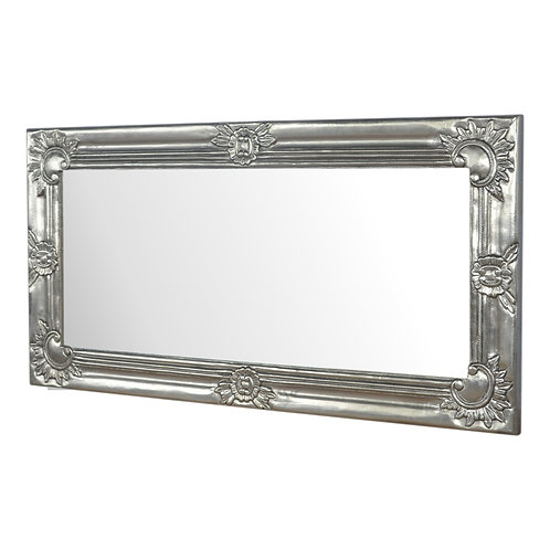 Lux Hand Carved Silver Mirror