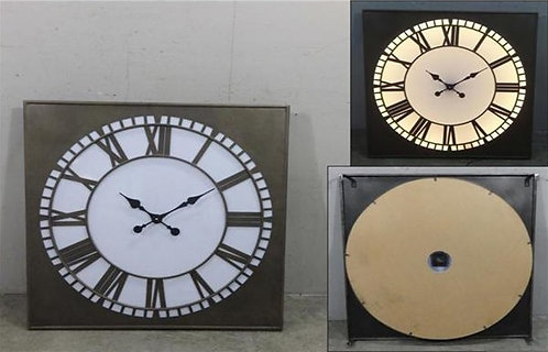 Square Big Ben Style Light Up Clock