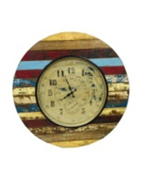 Upcycled Wooden Clock with Antique Dial