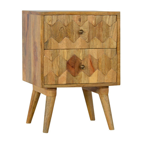 Scandinavian Style 2 Drawer Bedside Cabinet