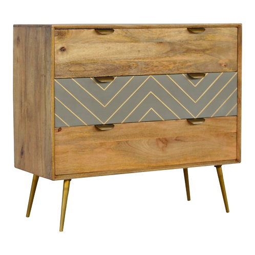 Nordic Style Sleek Cement Chest of Drawers