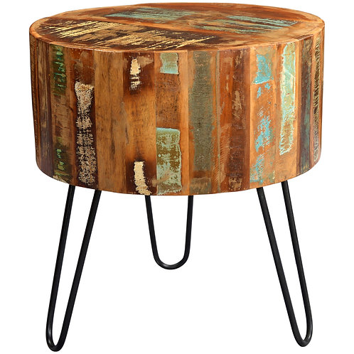 Coastal Drum Side Table