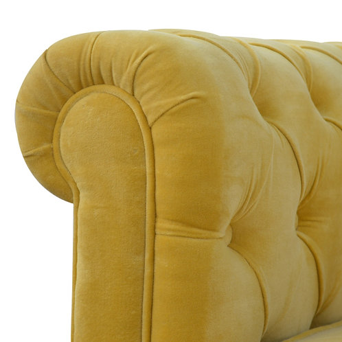 Velvet Chesterfield 2 Seater Sofa
