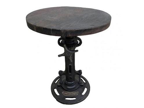 Reclaimed Wood Metal Adjustable Stool