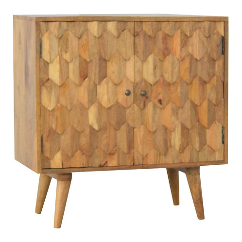 Scandinavian Style Carved Cabinet
