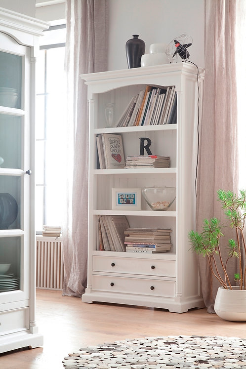Provence Bookcase with Drawers