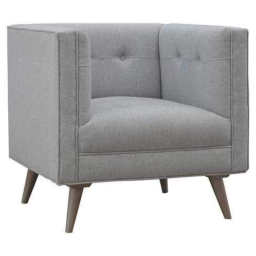 Grey Tweed Armchair