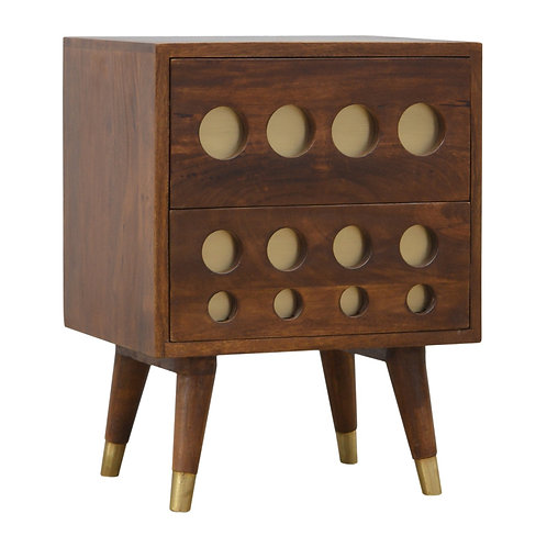 Retro Style Bedside Cabinet