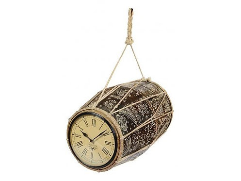 Recycled Musical Drum Dual Side Clock