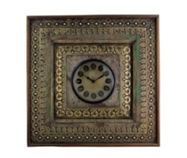 Upcycled Window Clock with Brass Metal Fittings