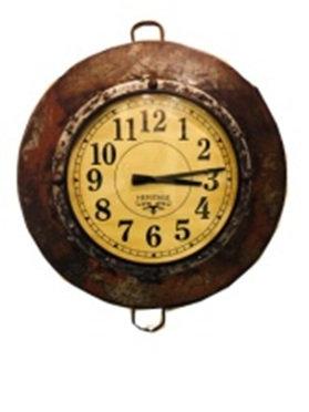 Upcycled Parat Bowl Clock Large