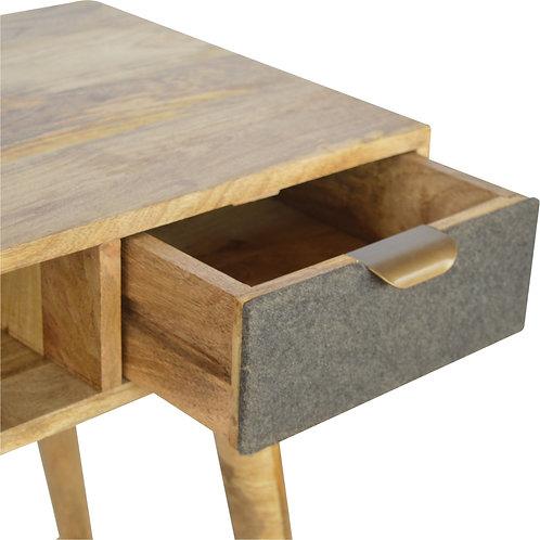 Tweed Fronted Writing Desk