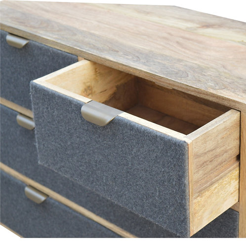 Tweed Fronted Chest of Drawers