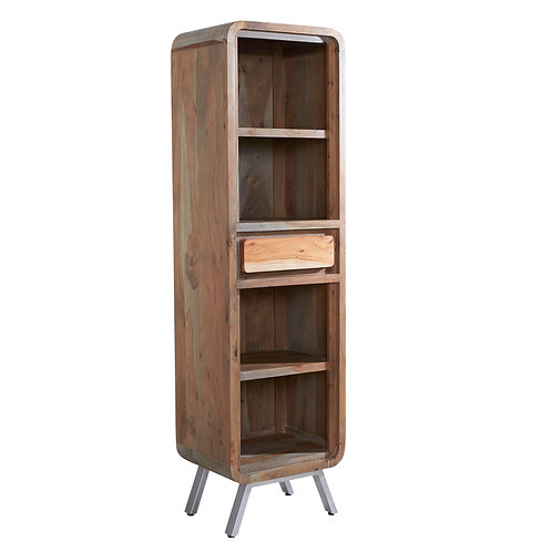Aspen Retro Narrow Bookcase