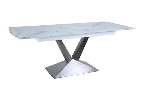 Marble Effect Extension Dining Table 1.6-2m