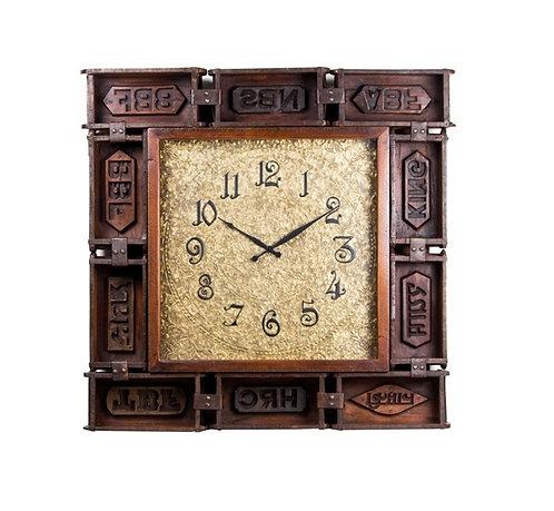 Upcycled Brick mould natural finish clock