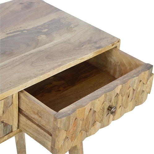 Scandinavian Style Carved Desk