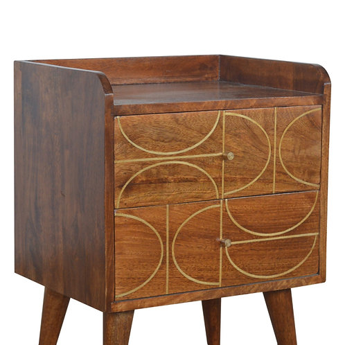 Gold Inlay Abstract Bedside