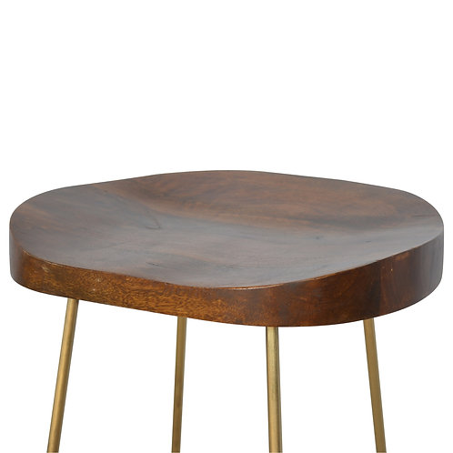 Chunky Wood Top Bar Stool