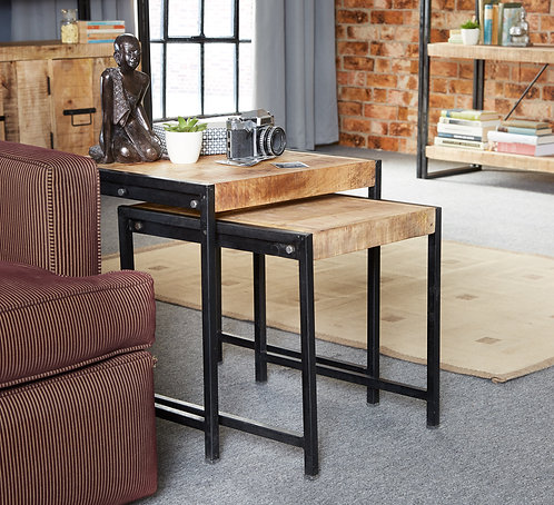 Cosmo Industrial Nest of 2 Tables
