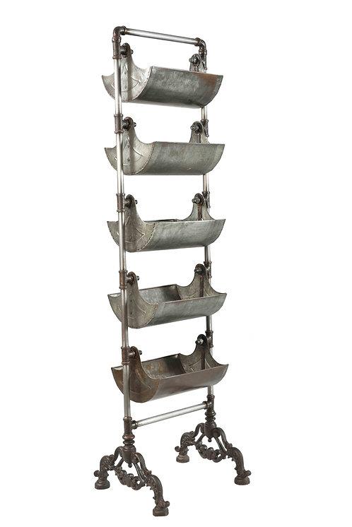 Metal Basket Shelving Unit