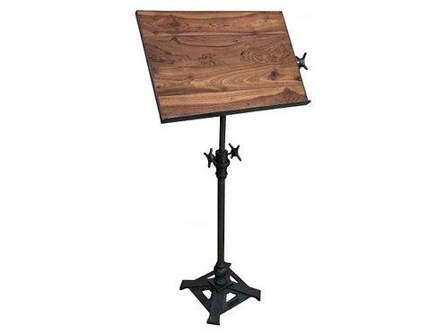Teak Metal Adjustable Draft Table Stand