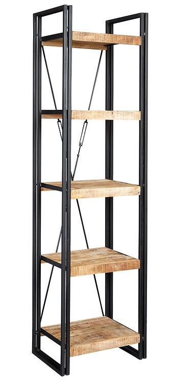 Cosmo Industrial Slim Open Bookcase