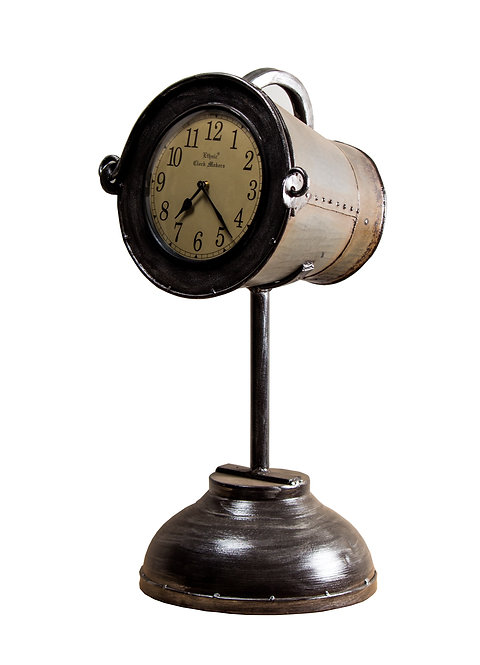 Recycled Iron Bucket Clock