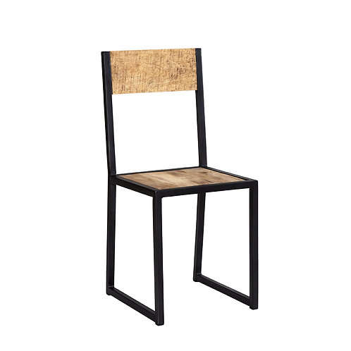 Cosmo Industrial Pair of Dining Chairs