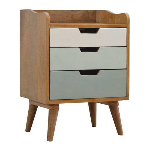 Nordic Style 3 Drawer Bedside Cabinet