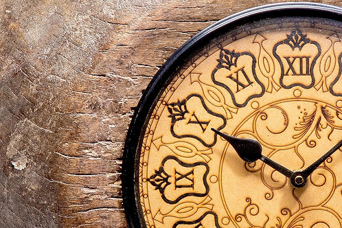 Upcycled Antique Tagari Clock with Wooden Dial