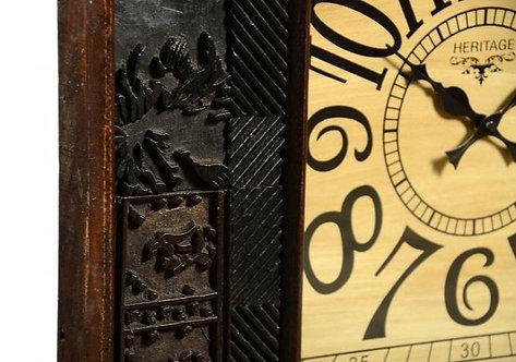 Square Wooden Clock