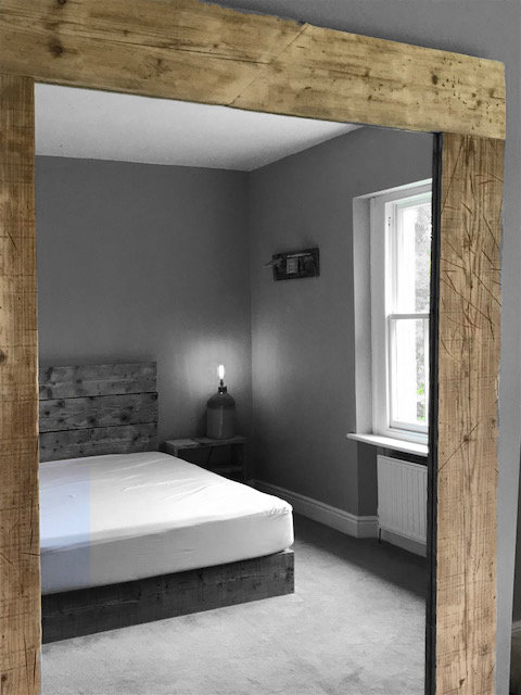 XL Reclaimed Timber Frame Mirror