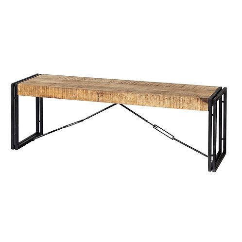 Cosmo Industrial Metal Wood Bench