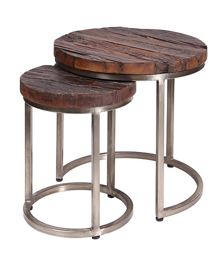 Nest of 2 Round Tables