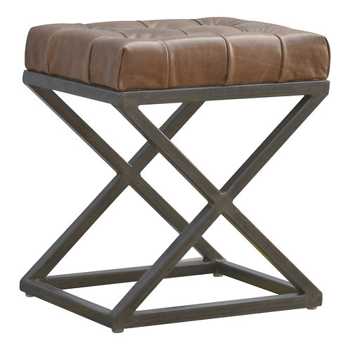 Industrial Deep Button Leather Seat