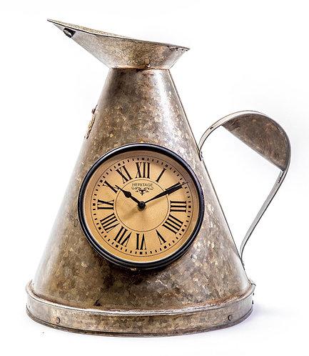 Upcycled Iron Jug Clock