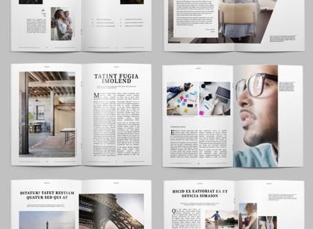 Nuovi template gratuiti per riviste su InDesign