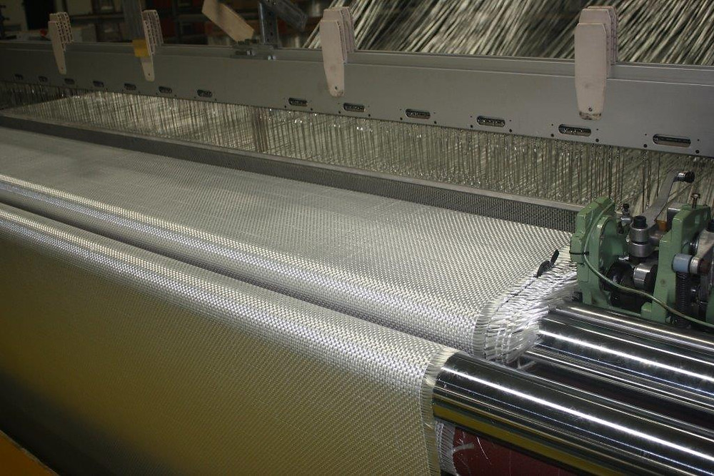 Weaving of Fiberglass fabric using E-Glass yarn