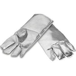 Aluminized Gloves for foundries, steel & metal industries for working near a furnace
