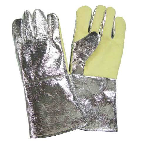 Aluminized high temperature cut protection kevlar gloves