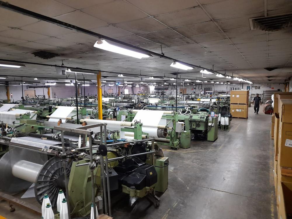 Weaving looms for Fiberglass