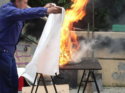 RNG Performance Materials manufactures Fiberglass based Fire Blankets certified to EN 1469, ISO 6940 & IS 11871 fire tests