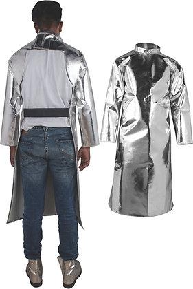 "Aluminized Fiberglass Apron with Sleeves 48"" Long"