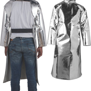 Aluminized Back Open Apron with Sleeves