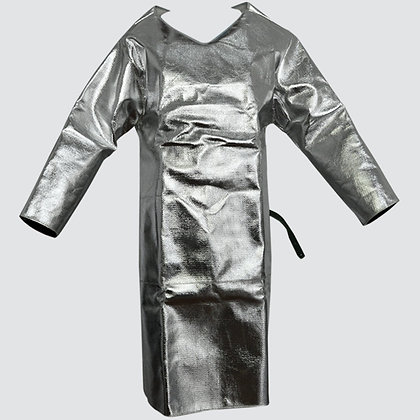 "Aluminized Kevlar Apron with Sleeves 48"" Long"